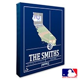San Diego Padres Personalized MLB Wall Art - 20716