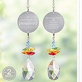 Personalized Memorial Rainbow Suncatcher - 20725