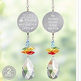 Personalized Rainbow Suncatcher - Inspiration From Above - 20726