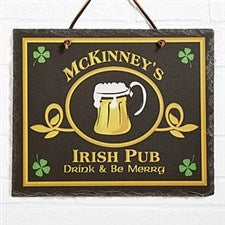 Custom Personalized Irish Pub Sign Slate Plaque - 2074