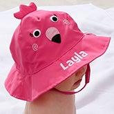Custom Embroidered Baby Sun Hat - Flamingo - 20752
