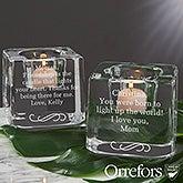 Orrefors Custom Engraved Votive Candle Holder - 20758