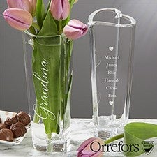Engraved Orrefors Heart Vase For Grandma - 20761