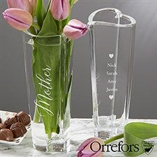 Engraved Orrefors Crystal Vase For Mom - 20762