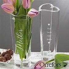 Engraved Orrefors Crystal Vase For Mom - 20762