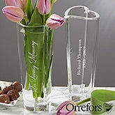 Orrefors Engraved Crystal Heart Memorial Vase - 20764
