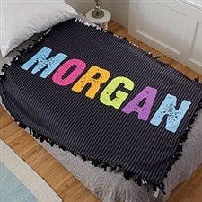 Personalized Fleece Tie Blanket For Kids - All Mine - 20778