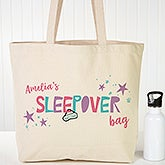 Personalized Girls Sleepover Tote Bag - 20805