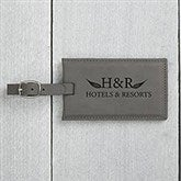 Personalized Business Logo Charcoal Bag Tags - 20854