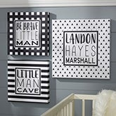 Personalized Black & White Baby Room Wall Art - 20863