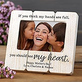 Personalized Shiplap Picture Frame - My Heart Is Full - 20874