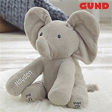 Personalized Gund Baby Animated Flappy The Elephant Plush Toy - 20879