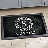 Personalized Kitchen Mats - Circle & Vine Monogram - 20892