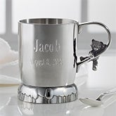 Silver Engraved Pewter Baby Cup - Teddy Bear - 20911
