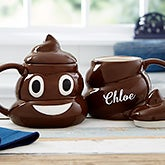 Personalized Poop Emoji Coffee Mug - 20921