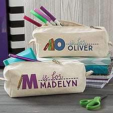 Kids Name Personalized Canvas Pencil Case - 20922