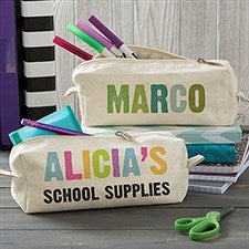 Personalized Canvas Pencil Case - All Mine - 20923