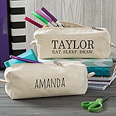 Modern Name Personalized Canvas Pencil Case - 20925