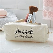 Modern Name Personalized Cosmetic Case - 20930 : wedding gifts for bridesmaids - princetonregatta.org