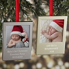 Precious Baby Engraved Picture Frame Ornaments - 20931