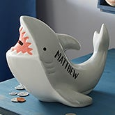 Personalized Shark Piggy Bank - 20941
