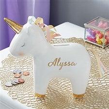 Personalized Unicorn Piggy Bank - 20942
