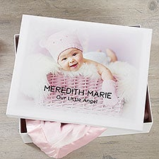 Personalized Baby Photo Keepsake Memory Box - 20945
