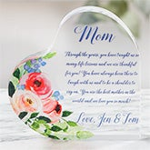 Personalized Acrylic Heart Keepsake Gift For Mom - 20955