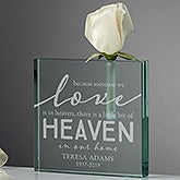 Heaven In Our Home Personalized Memorial Vase - 20982