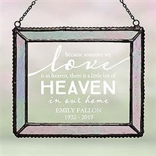Heaven In Our Home Personalized Suncatcher - 20983