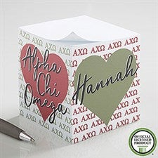 Alpha Chi Omega Personalized Note Cube - 20991