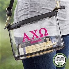 Alpha Chi Omega Personalized Clear Stadium Purse - 20994