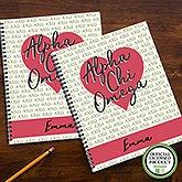 Alpha Chi Omega Sorority Personalized Notebooks - 20999