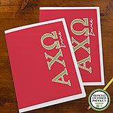 Alpha Chi Omega Sorority Personalized Folders - 21000