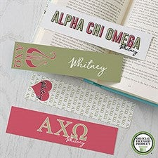Alpha Chi Omega Personalized Bookmarks - Set of 4 - 21002