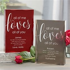 All Of Me Loves All Of You Personalized Keepsake Gift - 21019