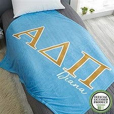 Alpha Delta Pi Personalized Greek Letter Blankets - 21023