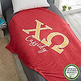 Chi Omega Personalized Greek Letter Blankets - 21025