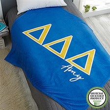 Tri Delta Personalized Greek Letter Blankets - 21026