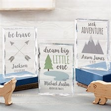 Personalized Lucite Baby Keepsakes - Woodland Adventure - 21028