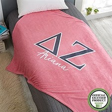 Delta Zeta Personalized Greek Letter Blankets - 21029