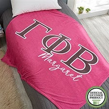 Gamma Phi Beta Personalized Greek Letter Blankets - 21030