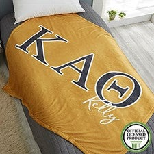 Kappa Alpha Theta Personalized Greek Letter Blankets - 21031