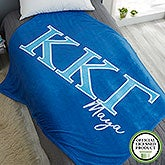 Kappa Kappa Gamma Personalized Greek Letter Blankets - 21033