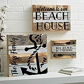 Coastal Life Personalized Reclaimed Wood Signs - 21037