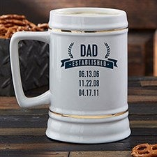 Personalized Beer Stein - Date Established - 21038