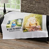 Personalized Blankets For Men - Two Photo Collage - 21051