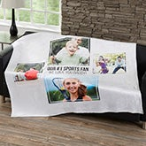 Personalized Blankets For Men - Four Photo Collage - 21054