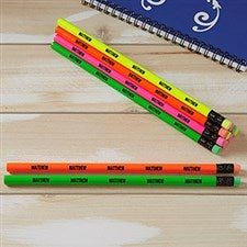 Personalized Pencils - Neon Colors - Set of 12 - 21061