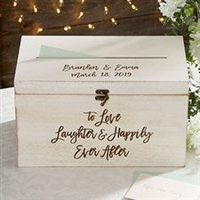 Ever After Personalized Wedding Wood Card Box - 21072